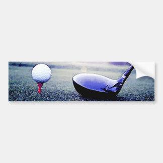 Pelota de golf y palo pegatina de parachoque