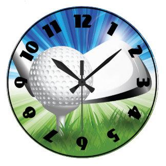 Pelota de golf y reloj de la camiseta