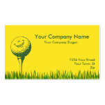Pelota de golf y tee de golf tarjetas de visita