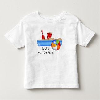 Pelota de playa de la caja de la arena de la camisas