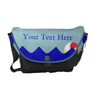 Pelota de playa de la piscina (personalizable) bolsa messenger