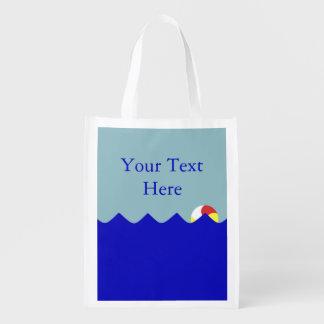 Pelota de playa de la piscina (personalizable) bolsa para la compra