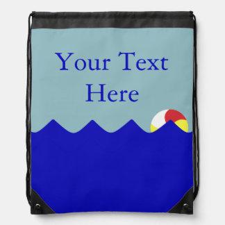 Pelota de playa de la piscina (personalizable) mochilas