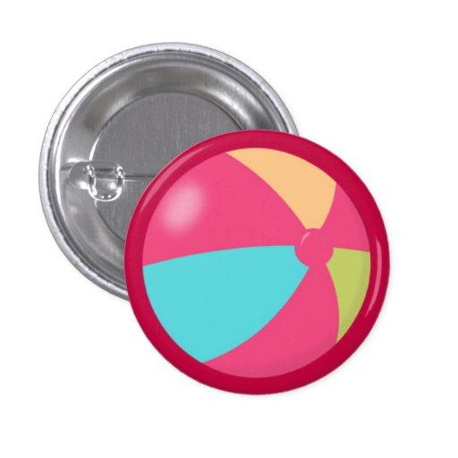 Pelota de playa en colores pastel colorida 2 pins