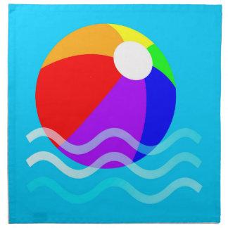 Pelota de playa servilletas imprimidas