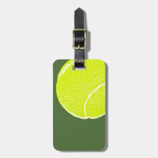 pelota de tenis amarilla etiquetas bolsa