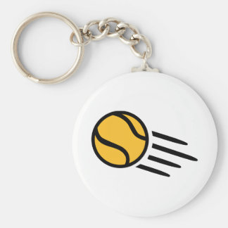 Pelota de tenis amarilla llavero