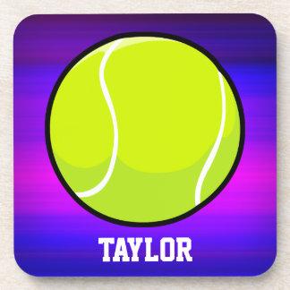 Pelota de tenis; Azul violeta y magenta vibrantes Posavaso