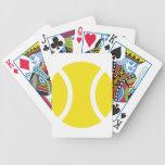 Pelota de tenis baraja de cartas