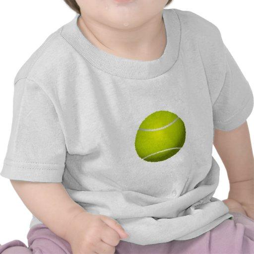 Pelota de tenis borrosa camiseta