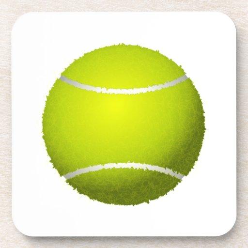 Pelota de tenis borrosa posavasos de bebidas