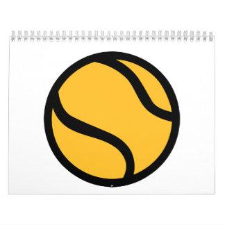 Pelota de tenis calendario de pared