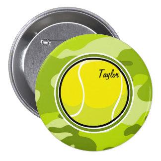 Pelota de tenis; camo verde claro, camuflaje pin