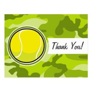 Pelota de tenis; camo verde claro, camuflaje postal
