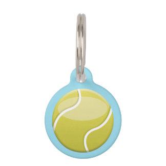 Pelota de tenis con nombre y número de encargo placas para mascotas