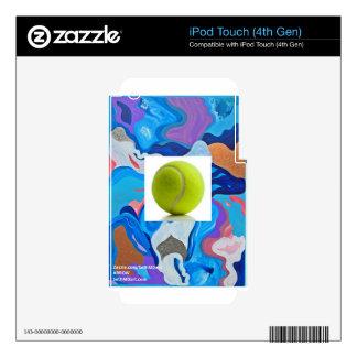 Pelota de tenis de la flecha iPod touch 4G skin