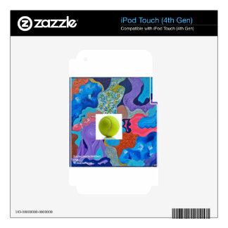 Pelota de tenis del oído iPod touch 4G calcomanías