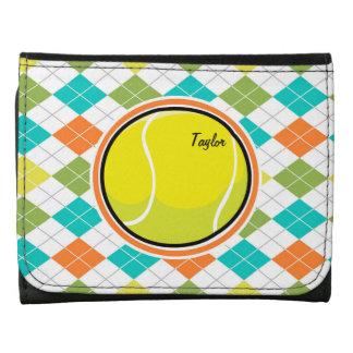 Pelota de tenis en el modelo colorido de Argyle