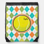 Pelota de tenis en el modelo colorido de Argyle Mochila