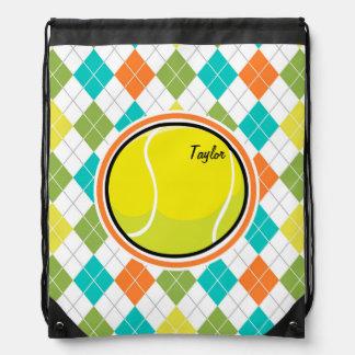 Pelota de tenis en el modelo colorido de Argyle Mochilas