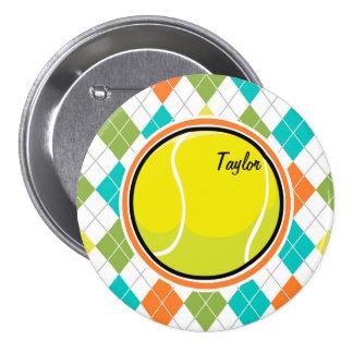 Pelota de tenis en el modelo colorido de Argyle Pins