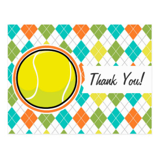 Pelota de tenis en el modelo colorido de Argyle Postal
