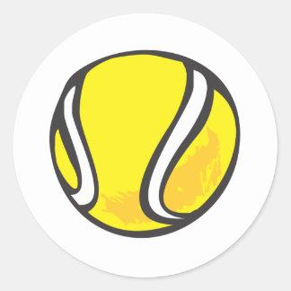 Pelota de tenis en estilo a mano pegatina redonda
