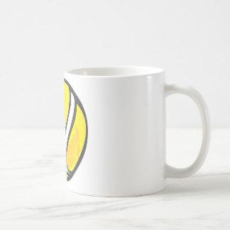 Pelota de tenis en estilo a mano taza de café