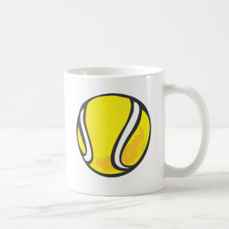 Pelota de tenis en estilo a mano tazas de café