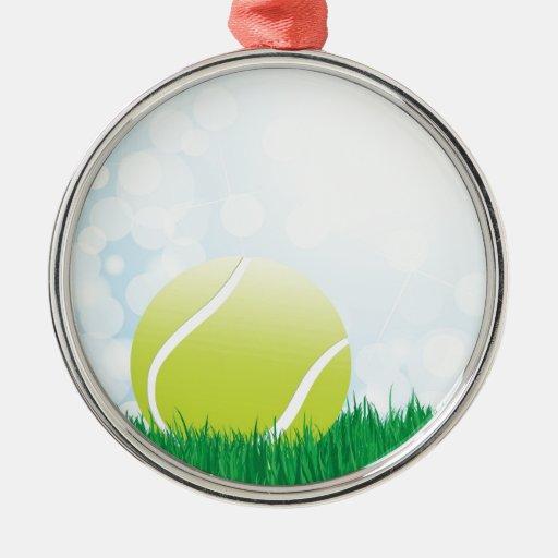 pelota de tenis en hierba ornamentos de navidad