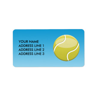 Pelota de tenis etiqueta de dirección
