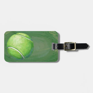 Pelota de tenis etiqueta de equipaje