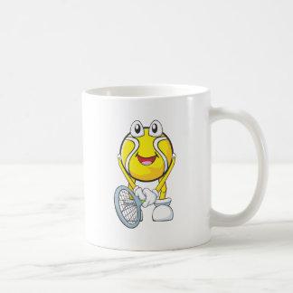 Pelota de tenis feliz tazas