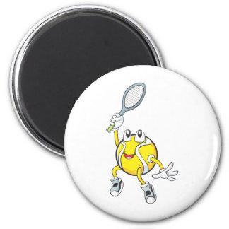 Pelota de tenis fresca que sostiene la estafa imán para frigorifico