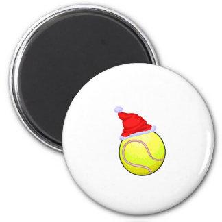 Pelota de tenis (gorra de Santa) Imanes De Nevera