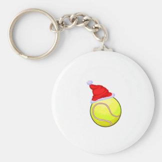Pelota de tenis (gorra de Santa) Llavero Redondo Tipo Pin