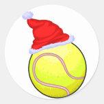 Pelota de tenis (gorra de Santa) Pegatinas Redondas