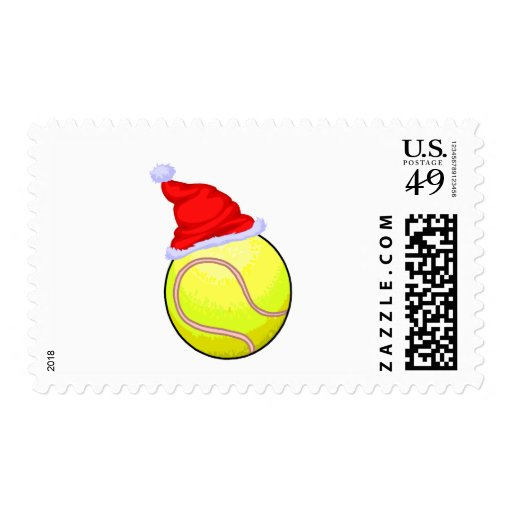 Pelota de tenis (gorra de Santa) Sellos Postales