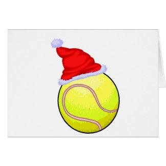 Pelota de tenis (gorra de Santa) Tarjeta De Felicitación