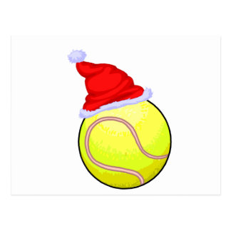 Pelota de tenis (gorra de Santa) Tarjeta Postal