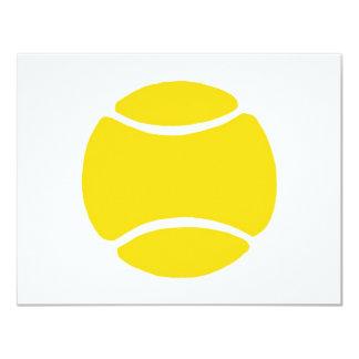 """Pelota de tenis invitación 4.25"""" x 5.5"""""""