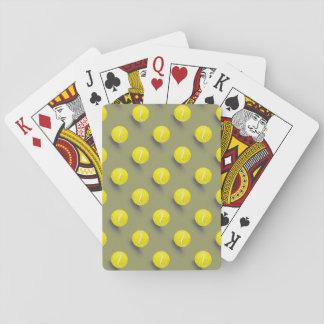 Pelota de tenis, jugador de tenis baraja de póquer