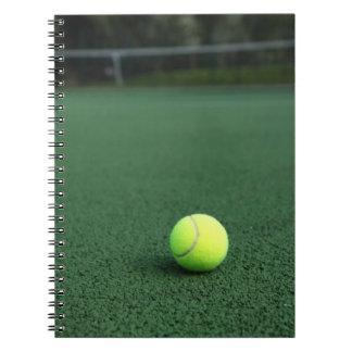 Pelota de tenis libro de apuntes con espiral