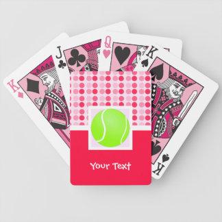 Pelota de tenis linda barajas de cartas