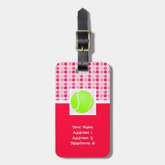 Pelota de tenis linda etiquetas para maletas