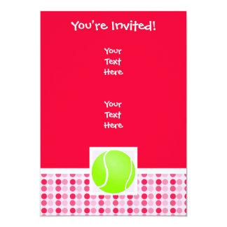 Pelota de tenis linda invitación 12,7 x 17,8 cm