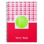 Pelota de tenis linda libros de apuntes