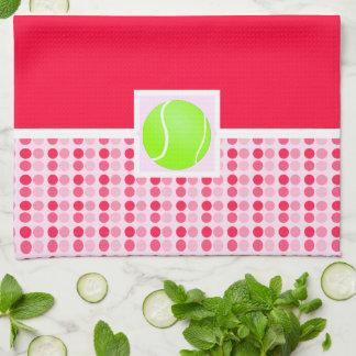 Pelota de tenis linda toallas de mano