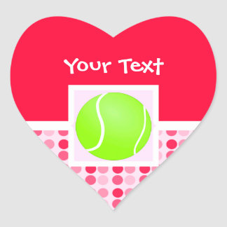 Pelota de tenis linda pegatina en forma de corazón