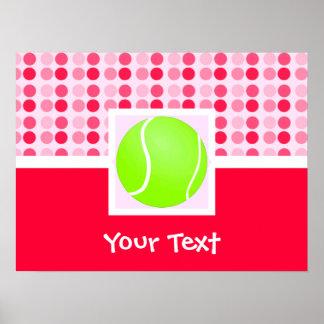 Pelota de tenis linda póster